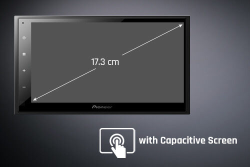 17.3 cm (6.8) WVGA Capacitive Touchscreen Display