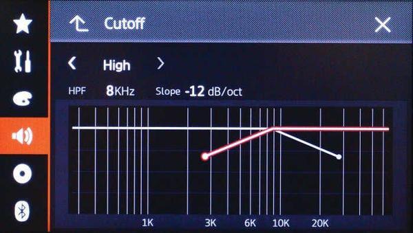 Touch Slide cross-over settings