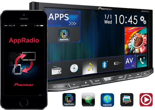 pioneer india avh x1790dvd get direct control over your ipod iphone android smartphone. Black Bedroom Furniture Sets. Home Design Ideas