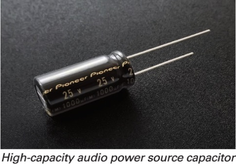 High Capacity Audio Source Capacitor