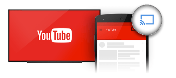 how to send youtube to tv