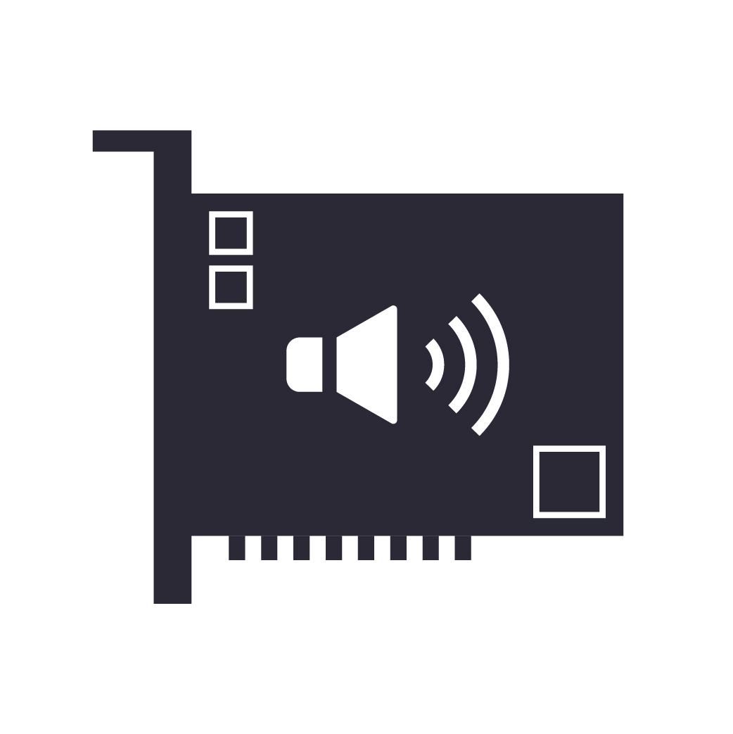 Built-in sound card (audio interface)