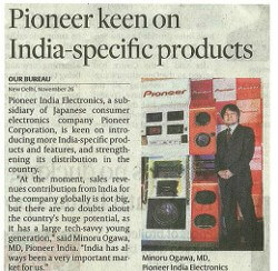 Pioneer keen on India-specific products