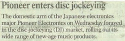 Pioneer enters disc jockeying