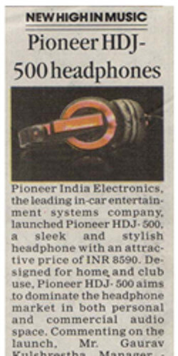 Pioneer HDJ-500 Headphones