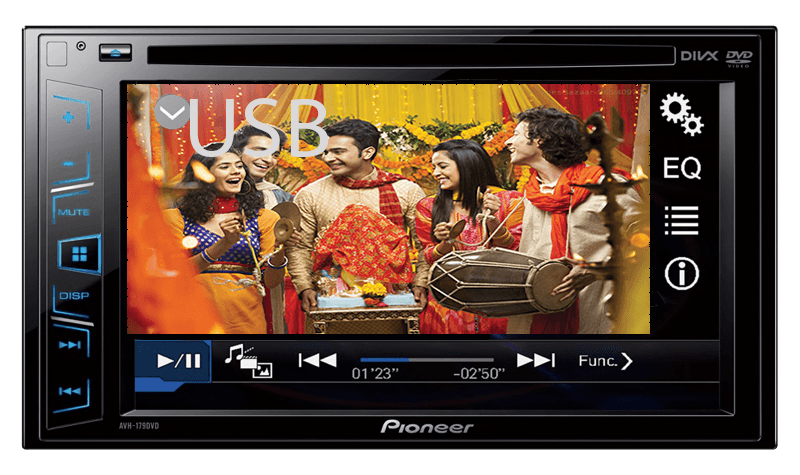 Pioneer car audio with bluetooth and usb india 16