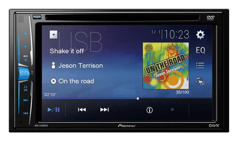 Pioneer India - AVH-A109DVD | Now personalize the rhythm