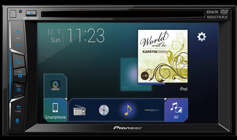 Pioneer India Avh Z1090dvd Double Din Dvd Multimedia Car Stereo