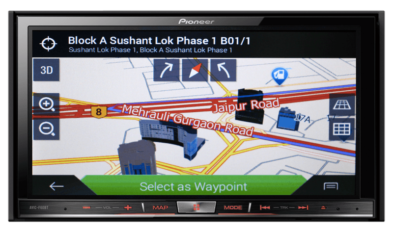 Pioneer India - AVIC-F60BT | Built-in navigation with power of flash