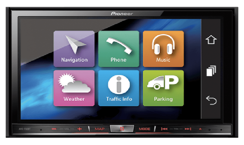 Pioneer India - AVIC-F60BT | Built-in navigation with power of flash ...