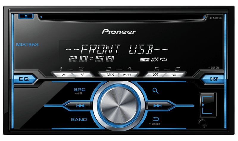 Pioneer India - FH-X389UB | Double-Din Car CD Player for ... on